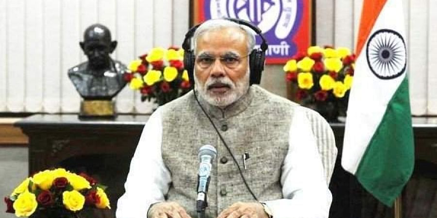 Prime Minister Narendra Modi interacting with the public through his radio address Mann Ki Baat. (Photo | PTI)