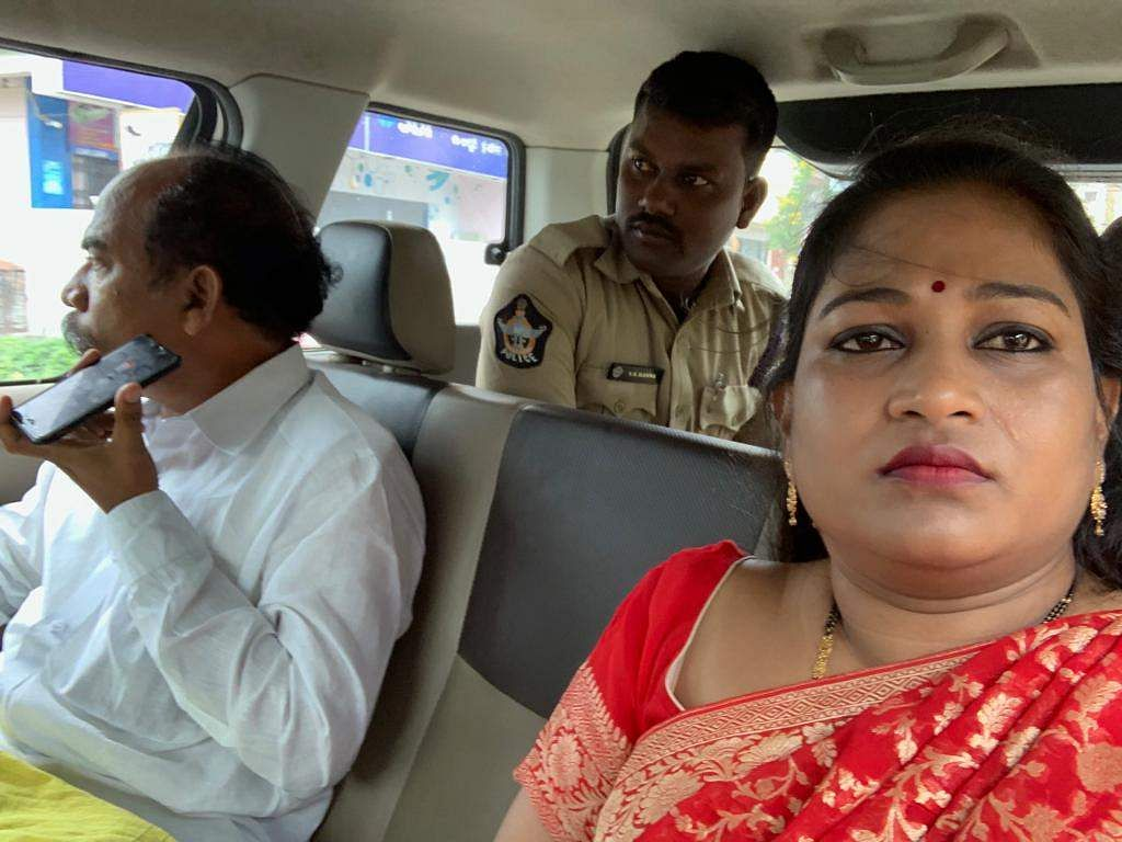 Former Ministers Anitha and Jawahar arrested during Chalo Atmakur programme in West Godavari district. (Photo | EPS)