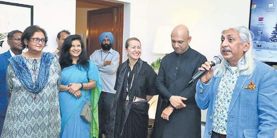 (From left) Author Namita Gokhale, festival director Jennifer Graham, Canadian High Commissioner in India Nadir Patel and Sanjoy Roy from Teamwork Arts