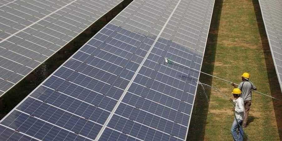 A Solar Power plant for representational purposes.
