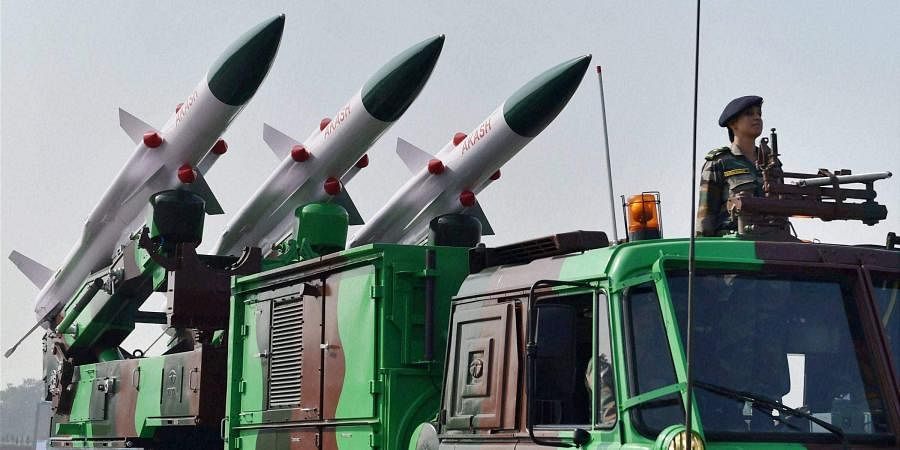 Akash Missile System on display at the Army Day parade in New Delhi. | (File | PTI