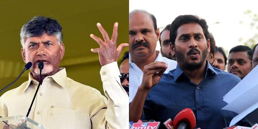 Andhra Pradesh CM Chandrababu Naidu and YSRCP chief Jagan Mohan Reddy