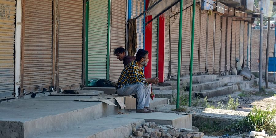 A view of a closed market during restrictions after the abrogration of Article 370 and bifurcation of State in Srinagar Saturday September 14 2019. | PTI