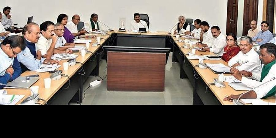 Chief Minister YS Jagan Mohan Reddy speaking at a review meeting of AP State Agriculture Mission on Saturday.