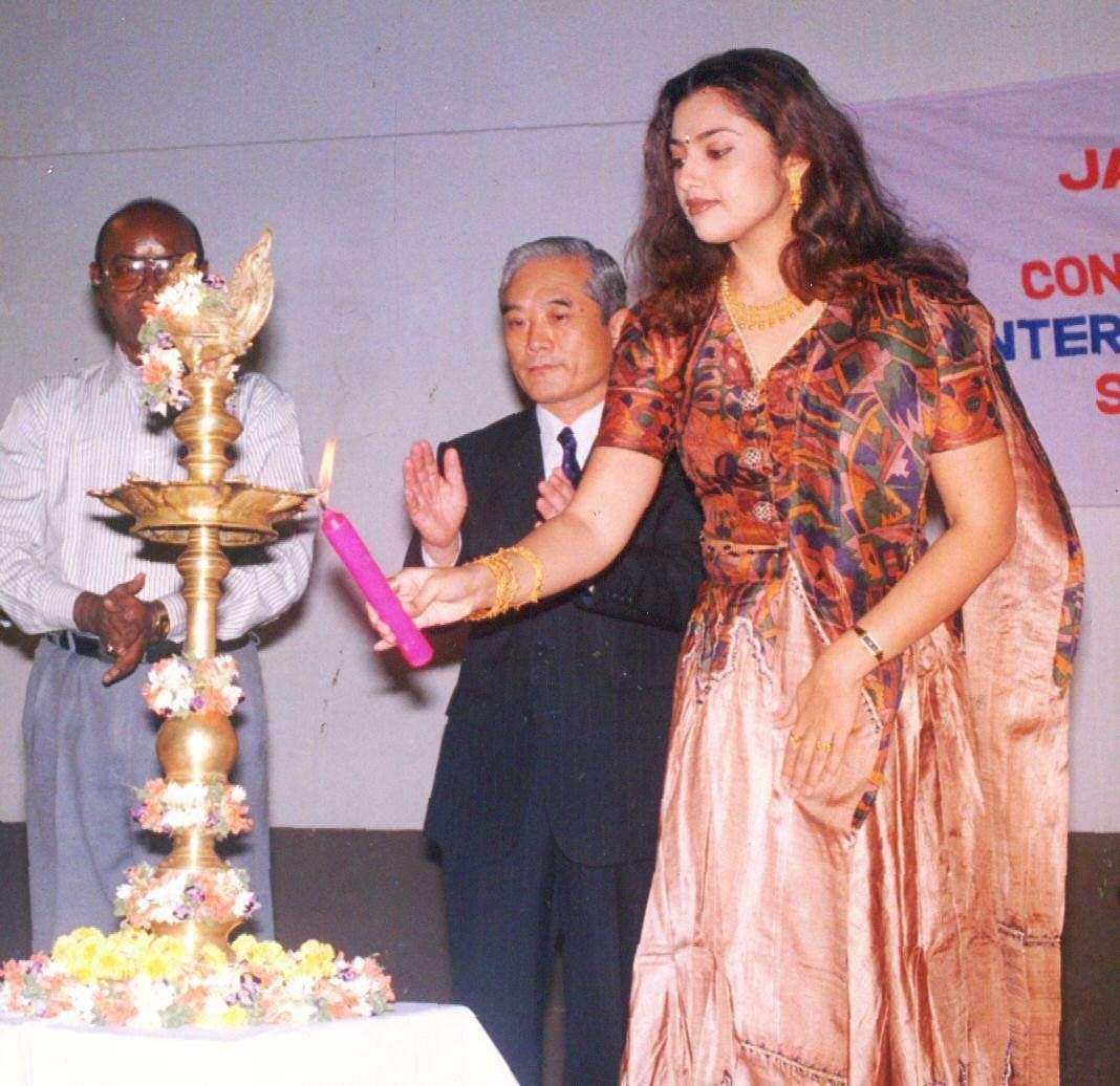 Actress Meena inaugurating Japanese Film Festival.