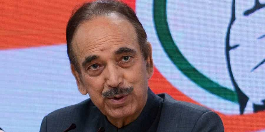 Senior Congress leader Ghulam Nabi Azad