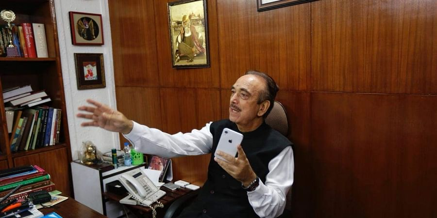 Congress Leader Ghulam Nabi Azad at his residence as the Supreme Court allows him to visit Kashmir, on Monday. | (Arun Kumar | EPS)