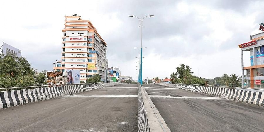 Palarivattom flyover which is closed for traffic.