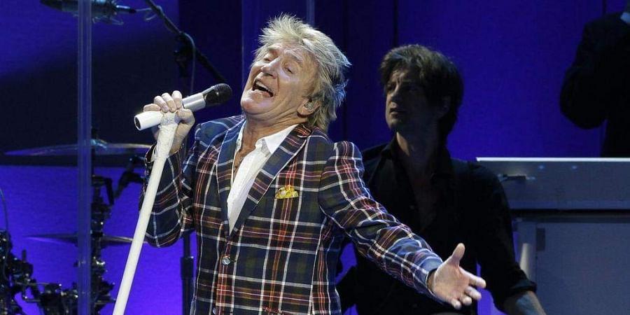 Singer Rod Stewart