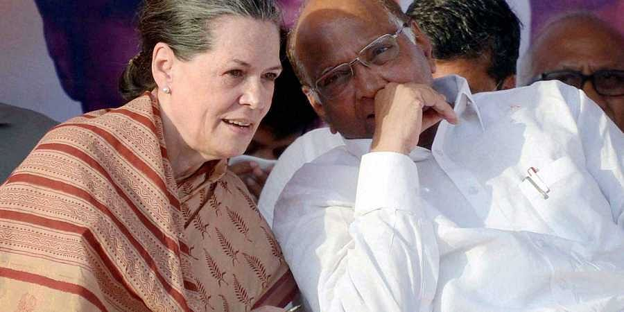 Sharad Pawar with Sonia Gandhi, Congress-NCP pact