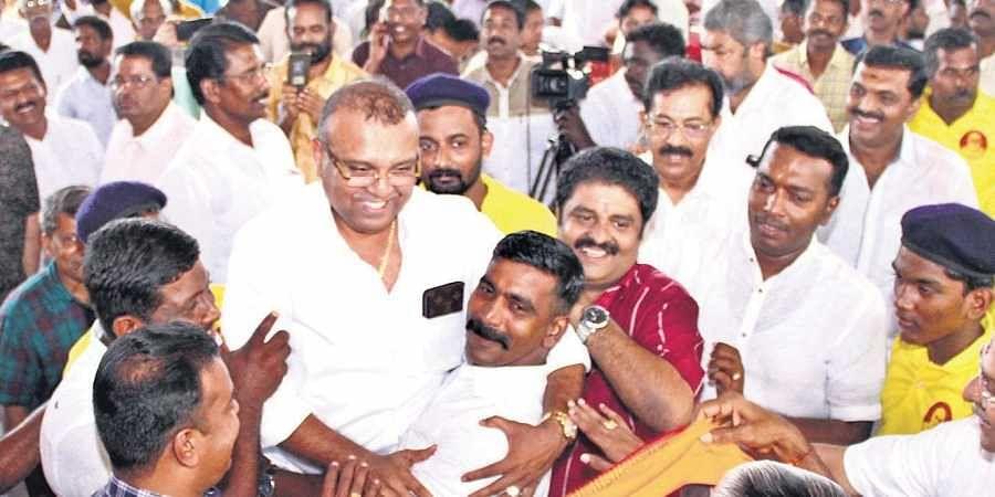 BDJS president Thushar Vellappally