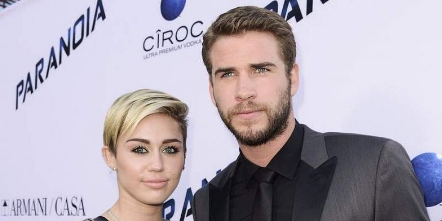 Hollywood actors Miley Cyrus and Liam Hemsworth