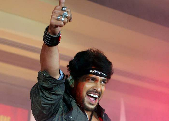 Kannada actor Upendra at the launch of upbeat beer by UB Group in Bangalore.