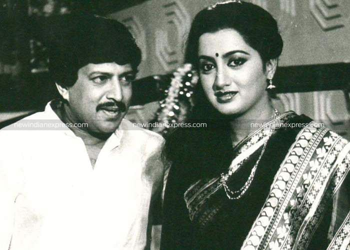 Sandalwood actors Vishnuvardhan and Sumalatha in 'Kathanayaka'.