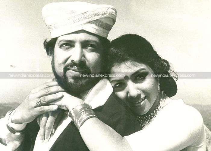 Sandalwood actors Vishnuvardhan and Arathi in 'Kallu Veene Midiyithu'.