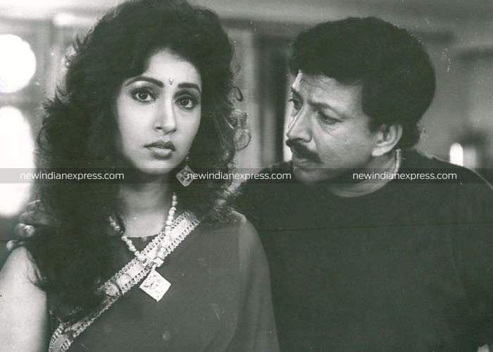Sandalwood actors Ashwini Bhave and Vishnuvardhan in 'Vishnu Vijaya'.