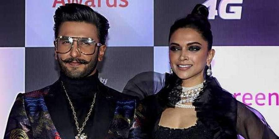 Bollywood actors Deepika Padukone and Ranveer Singh