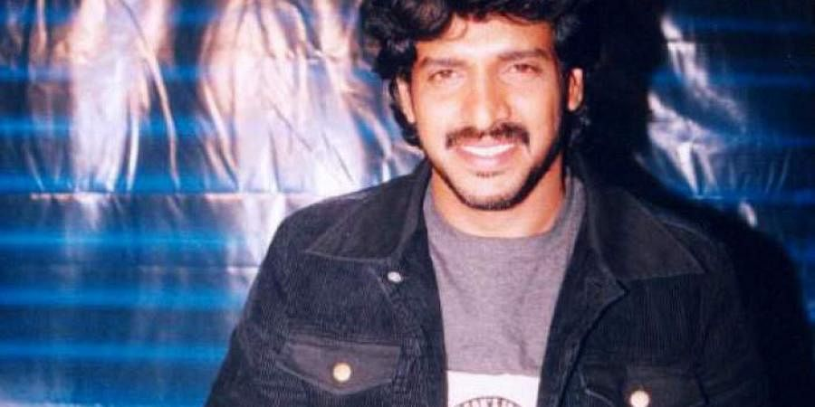 Kannada actor Upendra during his younger days.