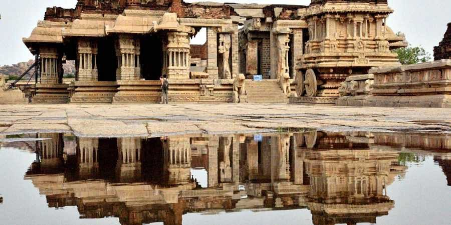 Bengaluru local arrested for damaging pillar in Hampi