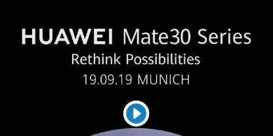 The Huawei Mate 30 phones are launching on September 19