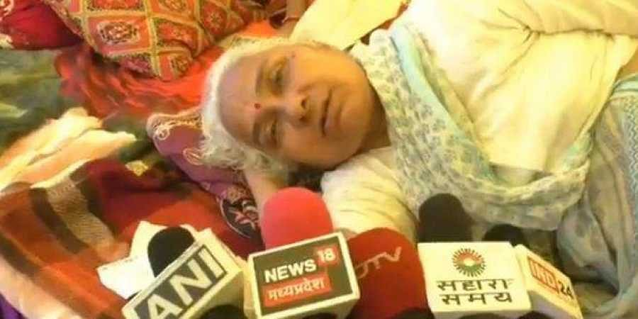 Medha Patkar, on a hunger protest for the past eight days seeking rehabilitation of those displaced by the Sardar Sarovar Dam project.