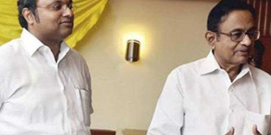 Congress leader P Chidambaram and his son Karti. | (Image | Facebook)
