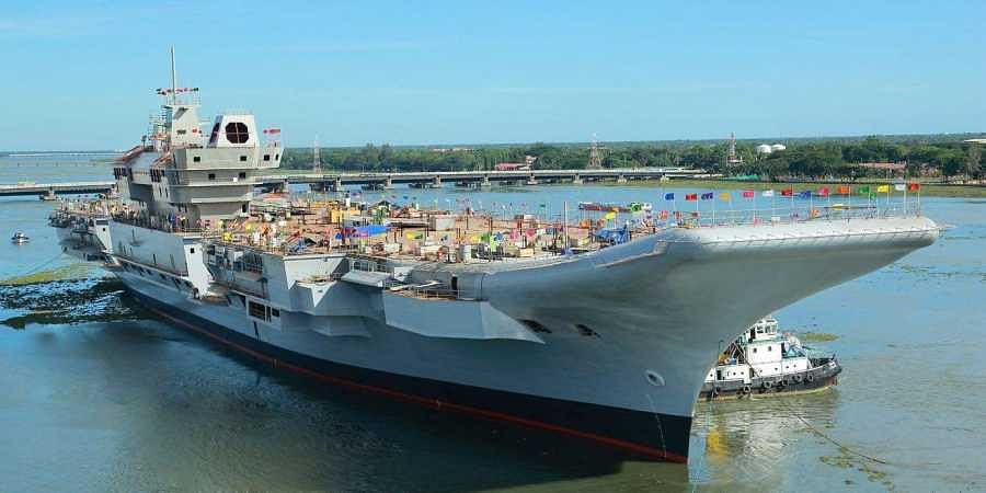 The first Indigenous Aircraft Carrier of the country being constructed by Cochin Shipyard from which an electronic component has allegedly gone missing causing security concerns. | Express Photo Services