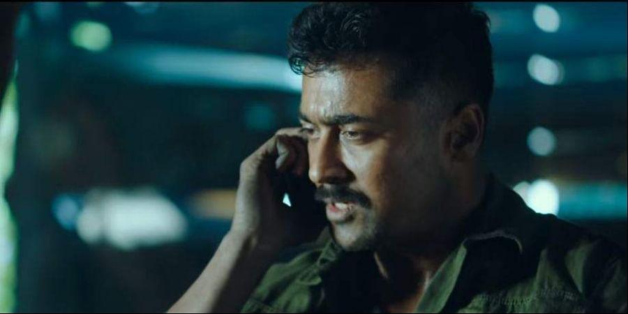 Actor Suriya in 'Kaappaan'. (YouTube grab)