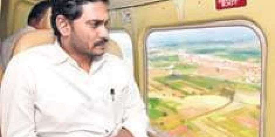 CM Jagan Mohan Reddy conducts aerial survey of flood-affected areas.