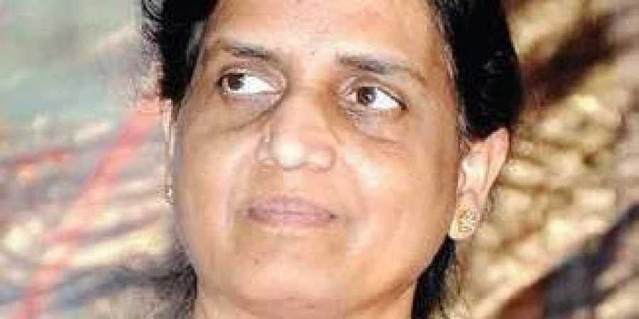 Newly-appointed Education Minister P Sabitha Indra Reddy