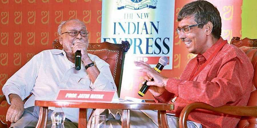 Poet Jayanta Mahapatra  in conversation with Prof Jatin Nayak on 'The Poetic As Personal: My Life in Words'