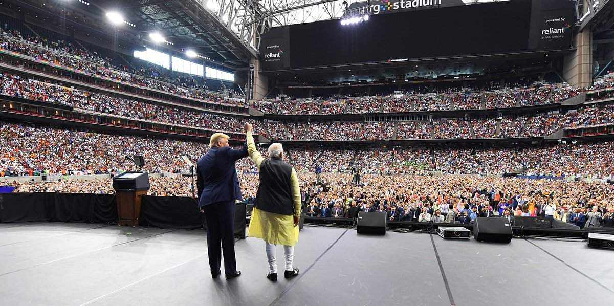 The 'Howdy Modi' event was held at NRG Stadium, Houston, and this was attended by 50000 people. It has been termed as one of the largest ever receptions received by a foreign leader in US.