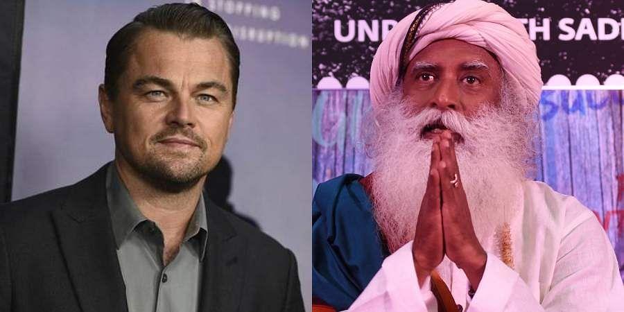 Hollywood star Leonardo DiCaprio and Sadhguru Jaggi Vasudev