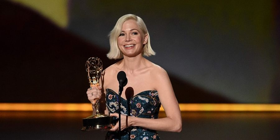 Michelle Williams accepts the award for outstanding lead actress in a limited series or movie for 'Fosse/Verdon' at the 71st Primetime Emmy Awards.