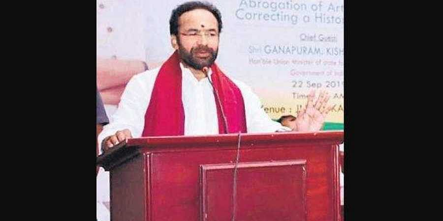Minister of State for Home Affairs G Kishan Reddy
