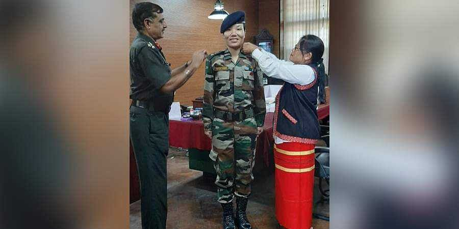Ponung Doming becomes Arunachal's first lady Lieutenant Colonel...
