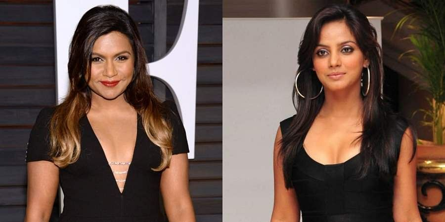 Hollywood actress Mindy Kaling and Kollywood actress Neetu Chandra