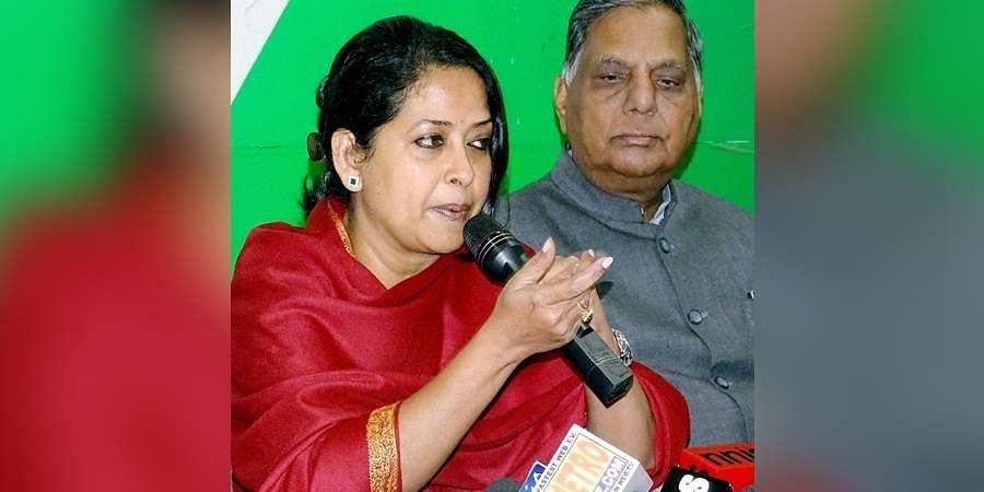 Congress spokesperson Sharmishtha Mukherjee