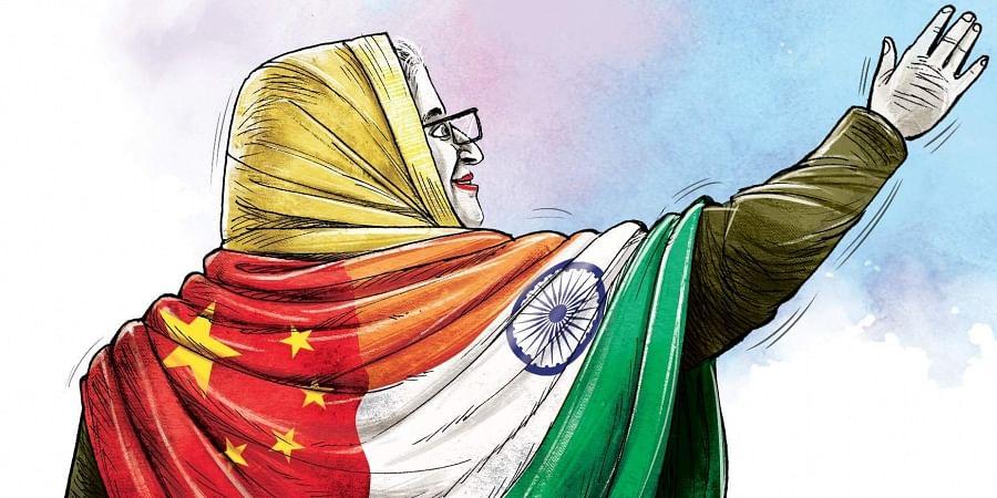 Illustration of Bangladesh Prime Minister Sheikh Hasina. (Express)