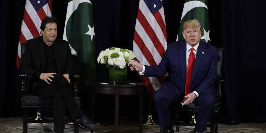 Pakistani Prime Minister Imran Khan and US President Donald Trump during the United Nations General Assembly, Monday, Sept. 23, 2019, in New York. ( Photo | AP )