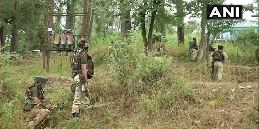 Jawans in action against terrorists in J&K's Ramban.