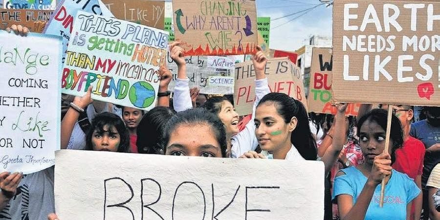 Climate change protest in Hyderabad