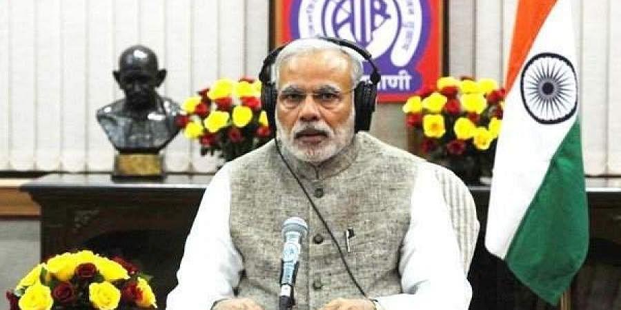 Prime Minister Narendra Modi interacting with the public through his radio address Mann Ki Baat. (Photo | PTI)