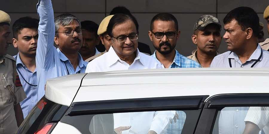Congress leader and former finance minister P Chidambaram produced at Rouse Avenue Court in connection with INX media case in New Delhi on Tuesday. | (Parveen Negi | EPS)