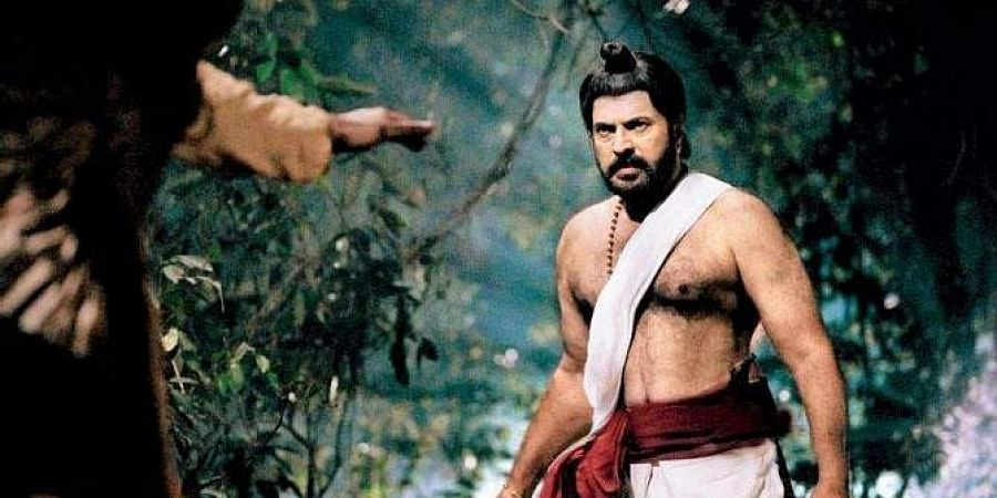 A still from Mammootty's historical epic 'Mamangam'.