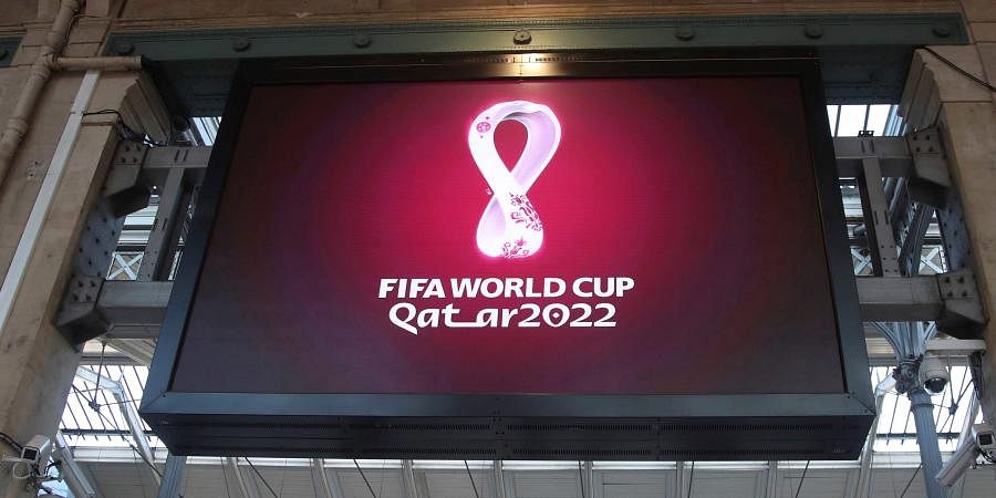 Image result for Qatar unveils logo for 2022 FIFA World Cup