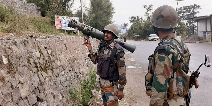 Army jawans during an encounter with the terrorists at Batote in Ramban district of Jammu and Kashmir Saturday Sept. 28 2019. | (Photo | PTI)