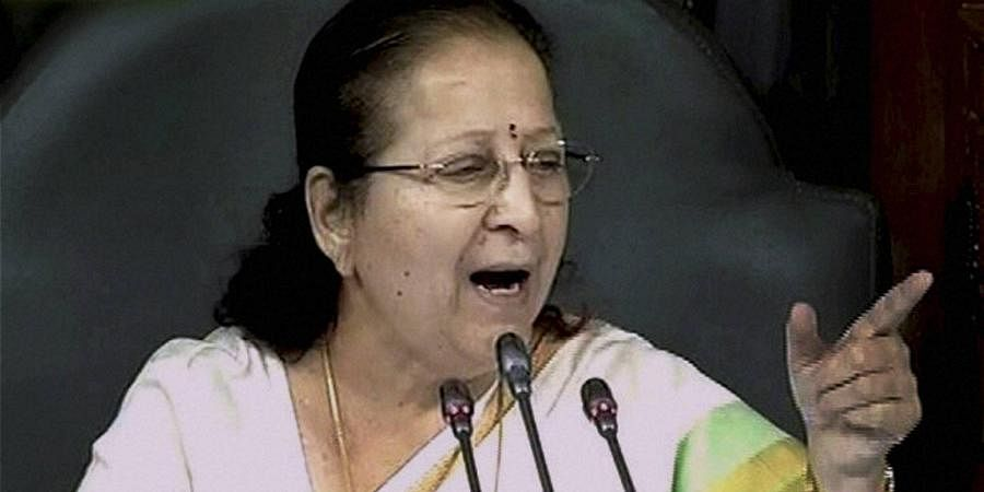 Former Lok Sabha speaker Sumitra Mahajan