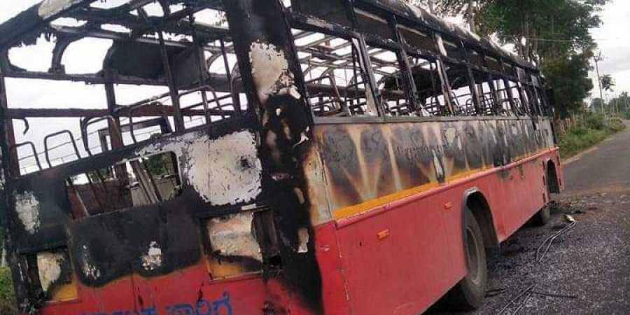 KSRTC Bus burnt