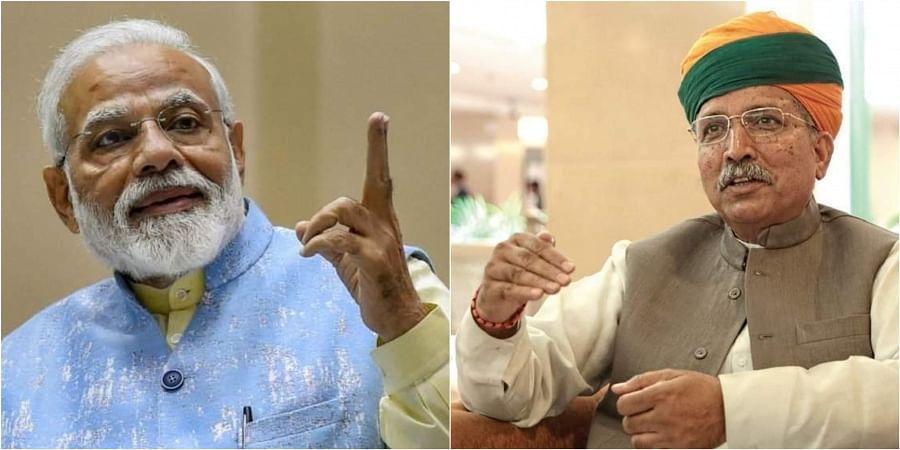 Prime Minister Narendra Modi and Union Minister Arjun Meghwal.